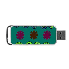 A Colorful Modern Illustration Portable Usb Flash (two Sides) by Simbadda