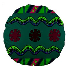 A Colorful Modern Illustration Large 18  Premium Round Cushions by Simbadda