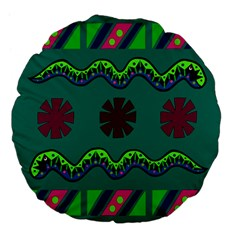A Colorful Modern Illustration Large 18  Premium Flano Round Cushions by Simbadda