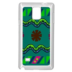 A Colorful Modern Illustration Samsung Galaxy Note 4 Case (white)