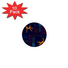 A Colorful Modern Illustration For Lovers 1  Mini Buttons (10 Pack)  by Simbadda