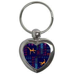 A Colorful Modern Illustration For Lovers Key Chains (heart)  by Simbadda