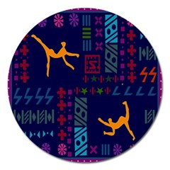 A Colorful Modern Illustration For Lovers Magnet 5  (round) by Simbadda