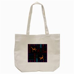 A Colorful Modern Illustration For Lovers Tote Bag (cream) by Simbadda