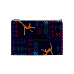 A Colorful Modern Illustration For Lovers Cosmetic Bag (medium)  by Simbadda