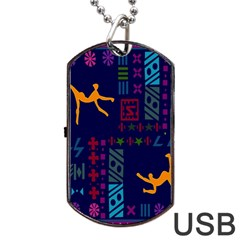 A Colorful Modern Illustration For Lovers Dog Tag Usb Flash (two Sides) by Simbadda
