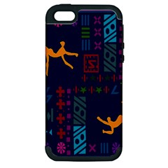 A Colorful Modern Illustration For Lovers Apple Iphone 5 Hardshell Case (pc+silicone) by Simbadda