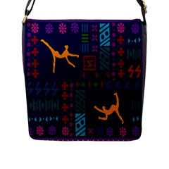 A Colorful Modern Illustration For Lovers Flap Messenger Bag (l)  by Simbadda