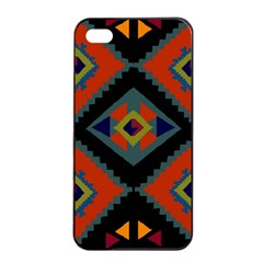 Abstract A Colorful Modern Illustration Apple Iphone 4/4s Seamless Case (black) by Simbadda