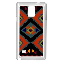 Abstract A Colorful Modern Illustration Samsung Galaxy Note 4 Case (white) by Simbadda