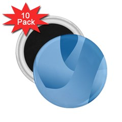 Abstract Blue Background Swirls 2 25  Magnets (10 Pack)  by Simbadda