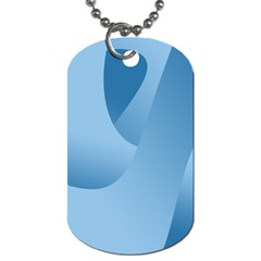 Abstract Blue Background Swirls Dog Tag (two Sides) by Simbadda