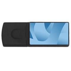 Abstract Blue Background Swirls Usb Flash Drive Rectangular (4 Gb) by Simbadda