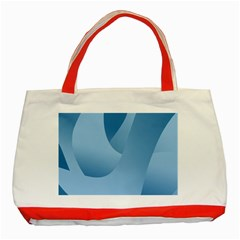 Abstract Blue Background Swirls Classic Tote Bag (red) by Simbadda