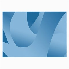 Abstract Blue Background Swirls Large Glasses Cloth (2 Side) by Simbadda