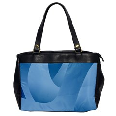 Abstract Blue Background Swirls Office Handbags by Simbadda