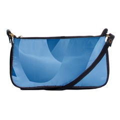 Abstract Blue Background Swirls Shoulder Clutch Bags by Simbadda