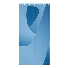 Abstract Blue Background Swirls Shower Curtain 36  X 72  (stall)  by Simbadda