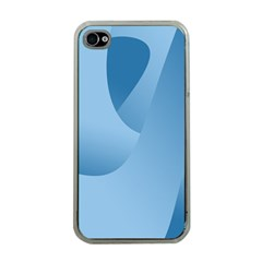 Abstract Blue Background Swirls Apple Iphone 4 Case (clear) by Simbadda