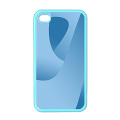 Abstract Blue Background Swirls Apple Iphone 4 Case (color) by Simbadda
