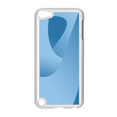 Abstract Blue Background Swirls Apple Ipod Touch 5 Case (white) by Simbadda