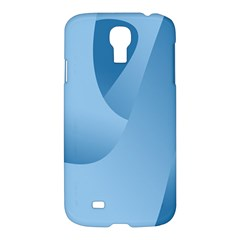 Abstract Blue Background Swirls Samsung Galaxy S4 I9500/i9505 Hardshell Case by Simbadda