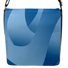 Abstract Blue Background Swirls Flap Messenger Bag (s) by Simbadda