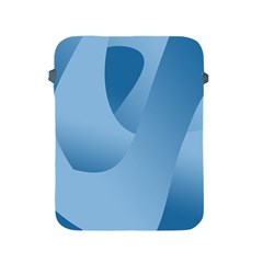 Abstract Blue Background Swirls Apple Ipad 2/3/4 Protective Soft Cases by Simbadda