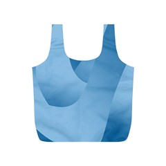 Abstract Blue Background Swirls Full Print Recycle Bags (s)  by Simbadda