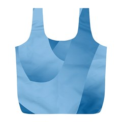 Abstract Blue Background Swirls Full Print Recycle Bags (l)  by Simbadda