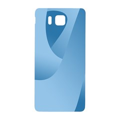 Abstract Blue Background Swirls Samsung Galaxy Alpha Hardshell Back Case by Simbadda