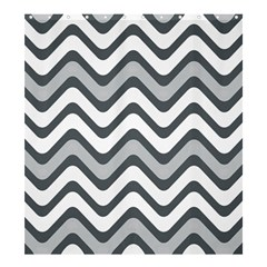 Shades Of Grey And White Wavy Lines Background Wallpaper Shower Curtain 66  X 72  (large)  by Simbadda