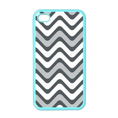 Shades Of Grey And White Wavy Lines Background Wallpaper Apple Iphone 4 Case (color) by Simbadda