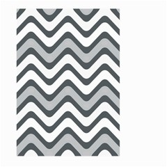 Shades Of Grey And White Wavy Lines Background Wallpaper Large Garden Flag (two Sides) by Simbadda