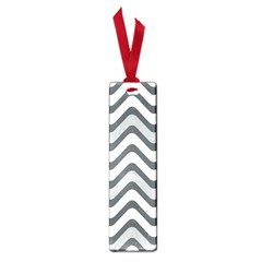 Shades Of Grey And White Wavy Lines Background Wallpaper Small Book Marks by Simbadda