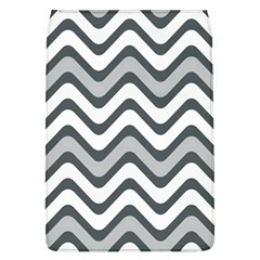 Shades Of Grey And White Wavy Lines Background Wallpaper Flap Covers (l)  by Simbadda