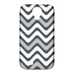 Shades Of Grey And White Wavy Lines Background Wallpaper Samsung Galaxy S4 Classic Hardshell Case (pc+silicone) by Simbadda