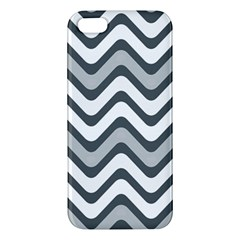 Shades Of Grey And White Wavy Lines Background Wallpaper Iphone 5s/ Se Premium Hardshell Case by Simbadda