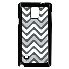Shades Of Grey And White Wavy Lines Background Wallpaper Samsung Galaxy Note 4 Case (black)