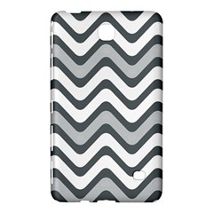 Shades Of Grey And White Wavy Lines Background Wallpaper Samsung Galaxy Tab 4 (8 ) Hardshell Case  by Simbadda