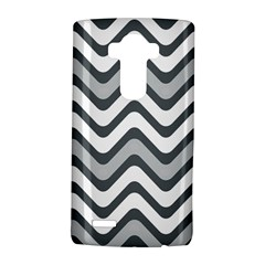 Shades Of Grey And White Wavy Lines Background Wallpaper Lg G4 Hardshell Case by Simbadda