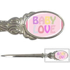 Pink Baby Love Text In Colorful Polka Dots Letter Openers by Simbadda