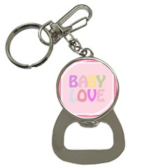 Pink Baby Love Text In Colorful Polka Dots Button Necklaces by Simbadda