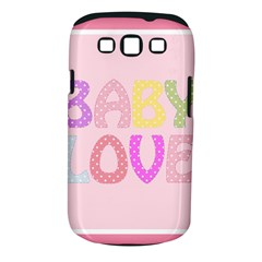 Pink Baby Love Text In Colorful Polka Dots Samsung Galaxy S Iii Classic Hardshell Case (pc+silicone) by Simbadda