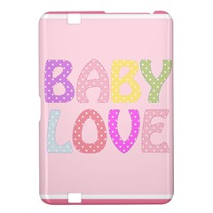 Pink Baby Love Text In Colorful Polka Dots Kindle Fire Hd 8 9  by Simbadda