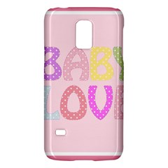 Pink Baby Love Text In Colorful Polka Dots Galaxy S5 Mini by Simbadda