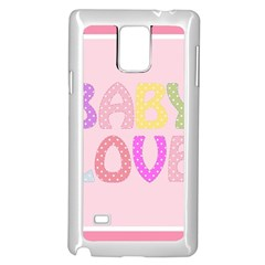 Pink Baby Love Text In Colorful Polka Dots Samsung Galaxy Note 4 Case (white) by Simbadda