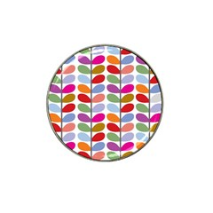Colorful Bright Leaf Pattern Background Hat Clip Ball Marker (4 Pack) by Simbadda