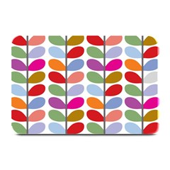 Colorful Bright Leaf Pattern Background Plate Mats by Simbadda