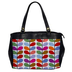 Colorful Bright Leaf Pattern Background Office Handbags by Simbadda